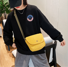 new 2020 simple girl canvas bag Harajuku ulzzang shoulder bag canvas Messenger bag