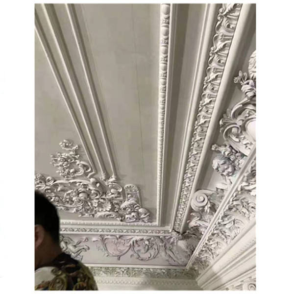 Delicate Designs For Interior Ceiling Decor PU Light Weight Molding