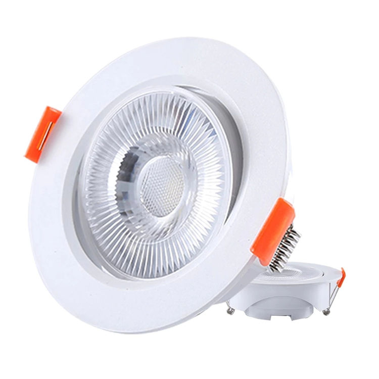 Aluminum Ceiling Recessed Commercial Mini Slim Downlight Round Square 3W 5W 7W 9W 12W Spotlight LED Spot Light
