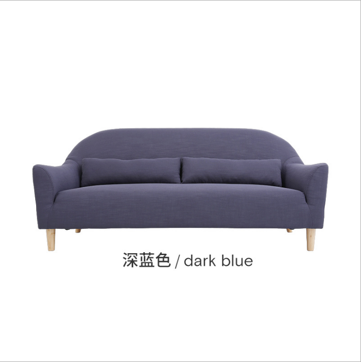 Scandinavian furniture cloth art sofa living room furniture single three people combination small family lazy sofa
