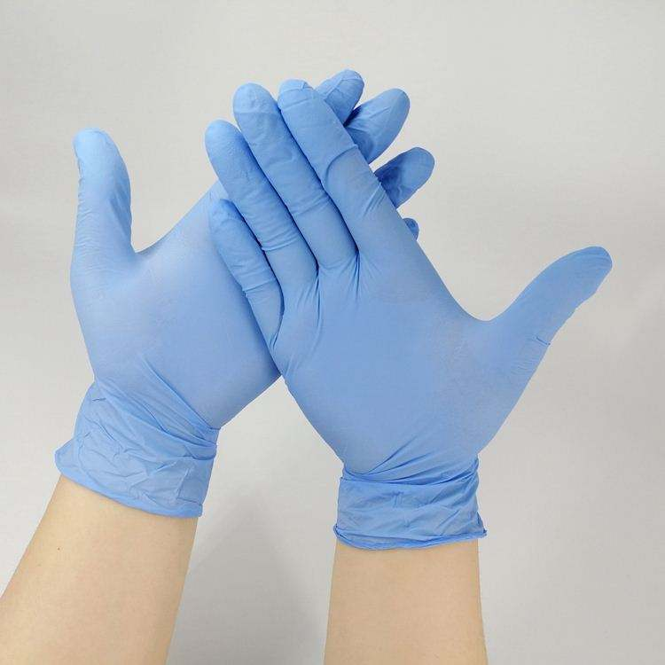 Wholesale China powder free food grade non sterile latex Vinyl Latex white Examination disposable nitrile gloves