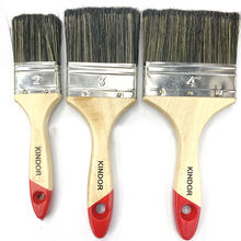 Nylon hair paint brush with wooden handle