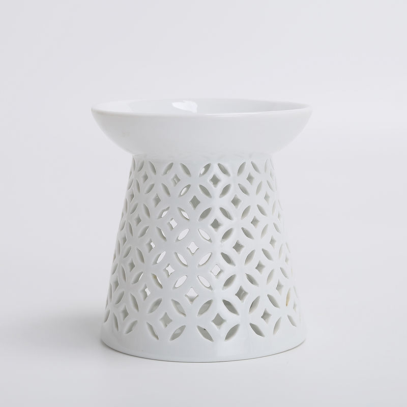 Ceramic candle Holder Aromatherapy Essential Translucent Home Decor Oil Burner