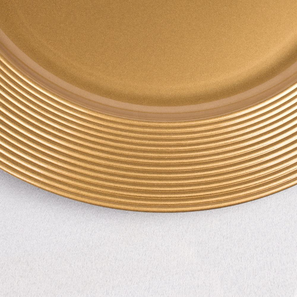Engraving Cheap Wholesale Gold Wedding Charger Plates