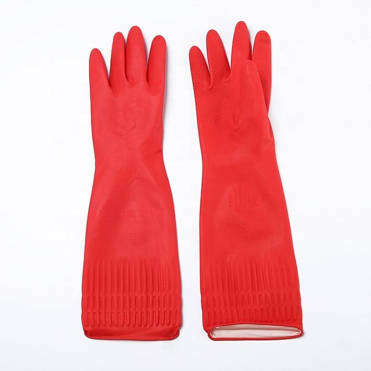 Creative Home Rubber Washing Cleaning Gloves Kitchen Dish Food Grade Household Cleaning Dishwashing Gloves for washing