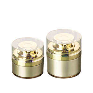 Aktien 30ml 50ml 70ml gold airless pumpe creme jar