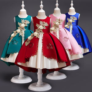 2019 children clothes short sleeve party princess girls dresses for 12 years