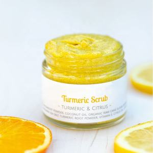 OEM Private Label Turmeric Face Sugar Scrub Detoxify, Relieve, Sooth & Exfoliate