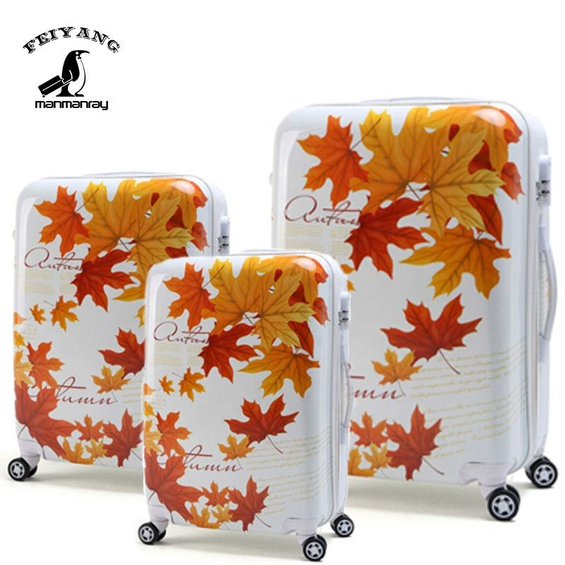 3PCS cabin abs pc hard case trolley luggage set