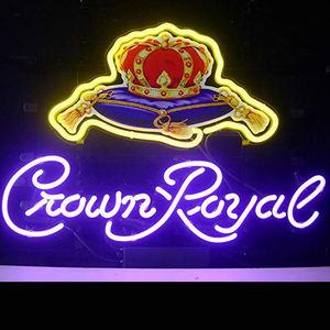 Корона Королевский канадский виски светодиодный неоновый ночник знак бар Супер Кубок багажного отделения