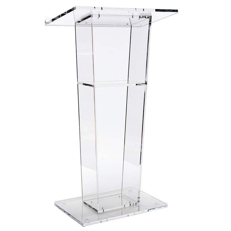 VONVIK Floor Standing Modern Acrylic Lectern Pulpit For Conference Exhibition Speech