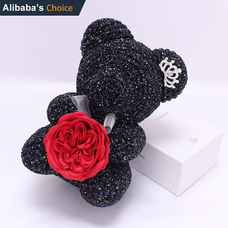 christmas valentines New year gift Preserved Fresh Flower rose diamond bear Teddy Bear Rose Flower