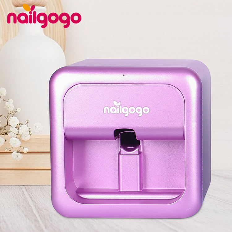 Nailgogo Nails Art 3D Printer 5 Fingers Imprimante a Ongles Intelligent Digital Auto Nail Printer Machine