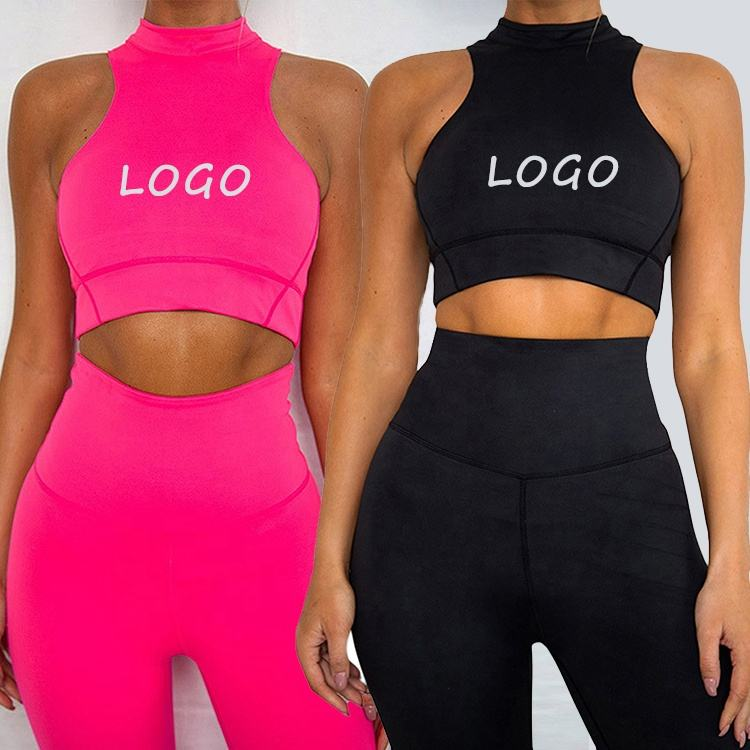 Fluorescent Two Piece Sets Sportswear 2021 Yoga Set Fitness Wear womens athletic apparel