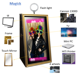Magic Mirror Photo Booth with led design frame/ Christmas selfie photobooth