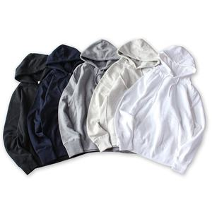 Wholesale pullover high quality reverse weave heavy 100% cotton plain winter white black oversized women hoodies mens hoodie