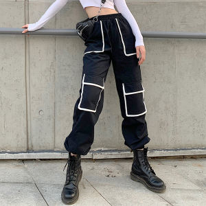 2020 likes fashion pockets hip hop pants for overalls jogger sweatpants women
