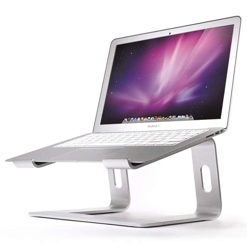 Fancy Inklapbare Roterende Base Stand Tall Intrekbare Arm Laptop Stand