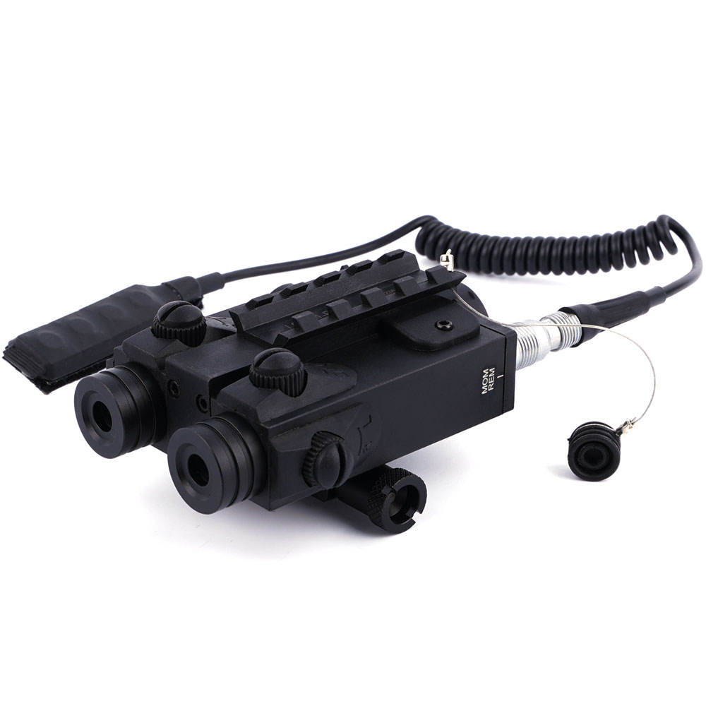 Tactical Weapon <5MW High Lumens Red Laser and IR InfraRed Laser Combo Dual Beam Laser Sight for Pistol Handgun Picatinny Rail