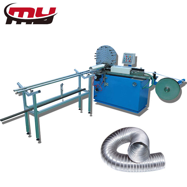MYT Shanghai flexible aluminum air duct forming machine chimney pipe machine