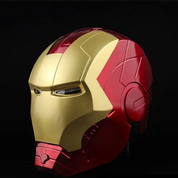 2020 Fashion Marvel Superheld Volledige Gezicht Iron Man Cosplay Licht Pvc Open Masker Helm
