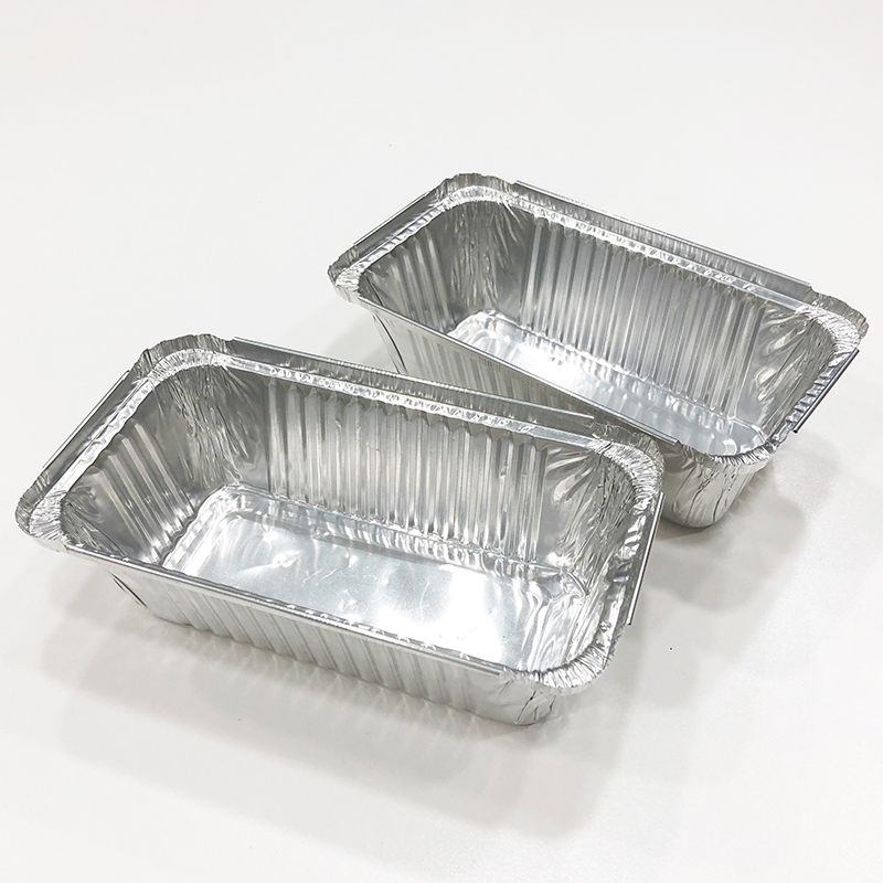 OEM ODM factory price disposable aluminum foil baking container baking tray takeaway food container tray