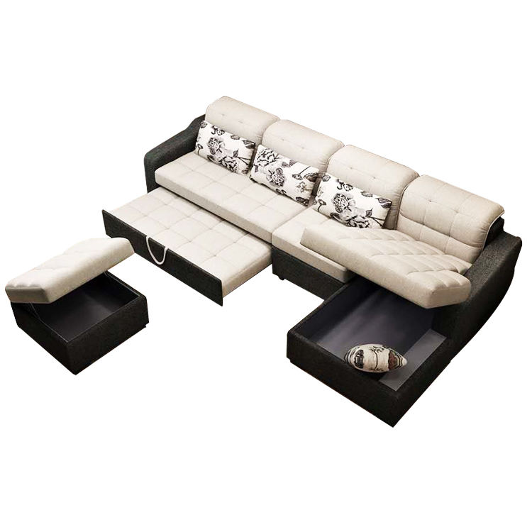 intelligent sectional multifunctional furniture set folding smart sofa bed with storage