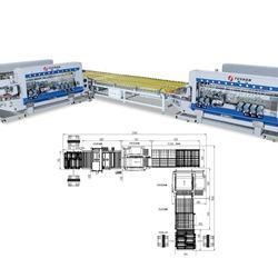 FSM2030+FSLT3026+FSM2026D Glass Straight Line Double Edging Line
