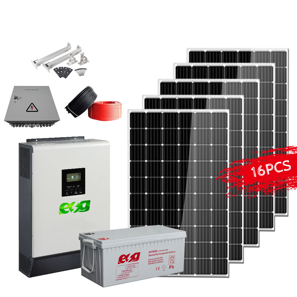 Hot Easy Roof Installation solar panel kit solar micro inverter grid tie home solar system 5KW 10kw