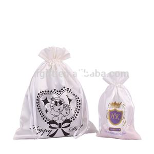 Wholesale Silk Satin Jewellery Drawstring Pouch Bag with Logo/Cheap drawstring bag