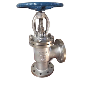 Stainless Steel Angular Globe Valve J44H-16P Factory Direct Sale DN50 DN25 DN100 Power Station Globe Valve