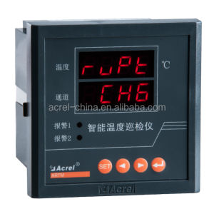Multi-Channels Instrument of Measure Temperature meter pt100 max 8 channel with RS485 Modbus Alarm output -250~+850 degrees