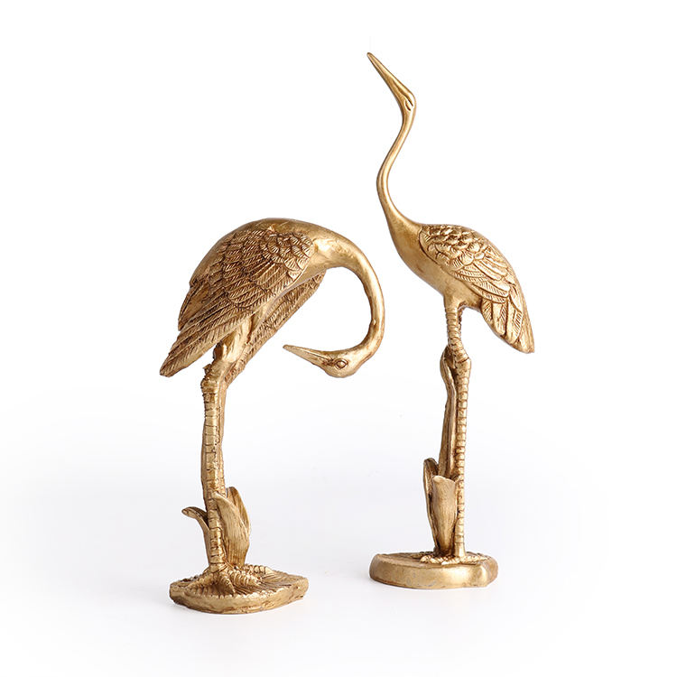 K&B new gold crane design luxury forest jungle series interior accessories home decoration