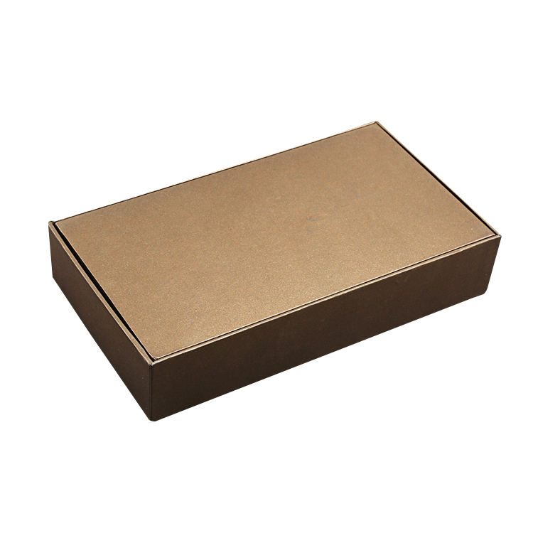 High end hand made coffee color kraft cardboard box cover black hard box general packaging box frames