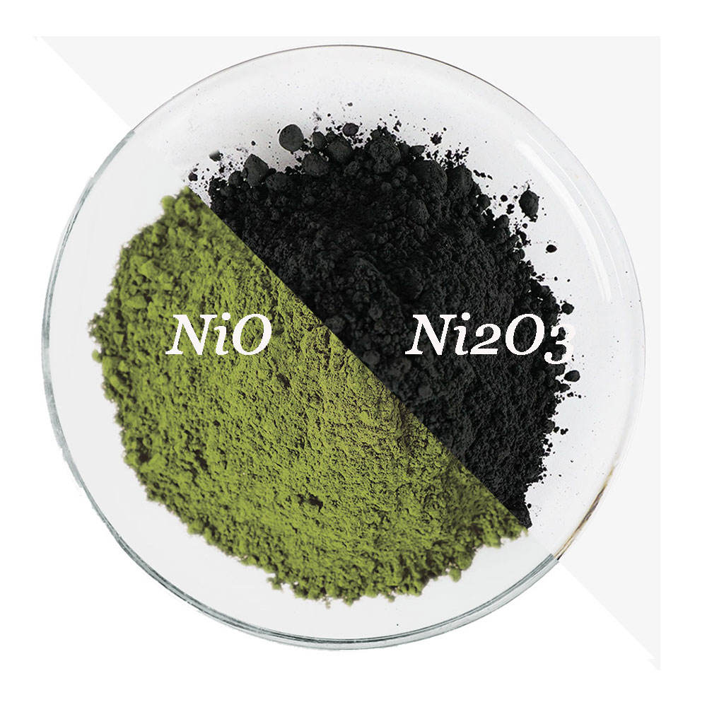 black catalyst electron grade nickel oxide trioxide powder used for temperature sensitive elements HRNI