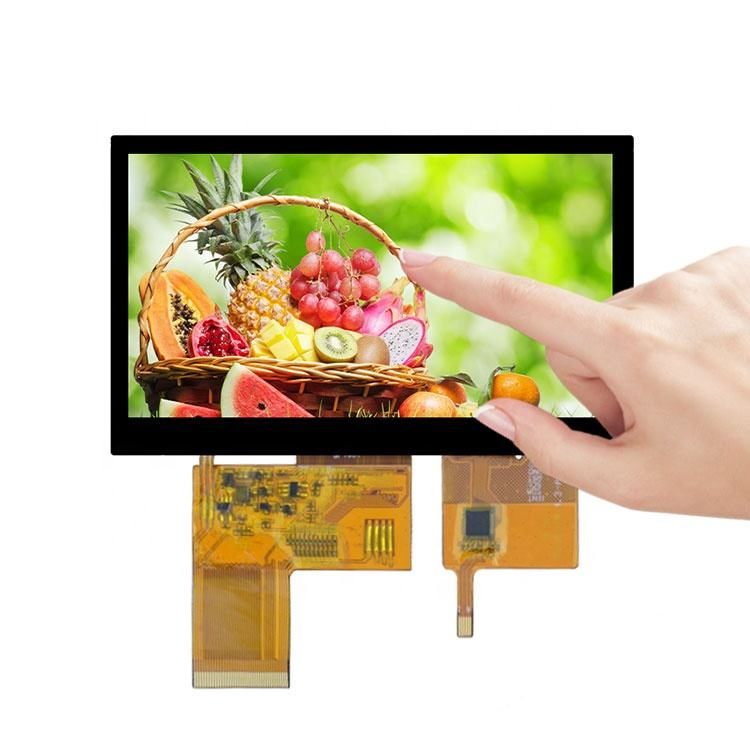 <span class=keywords><strong>5</strong></span> polegadas 800x480 módulo de display <span class=keywords><strong>lcd</strong></span> tft 24bit rgb interface i2c touch display de tela para tela <span class=keywords><strong>lcd</strong></span> industrial dispositivos portáteis