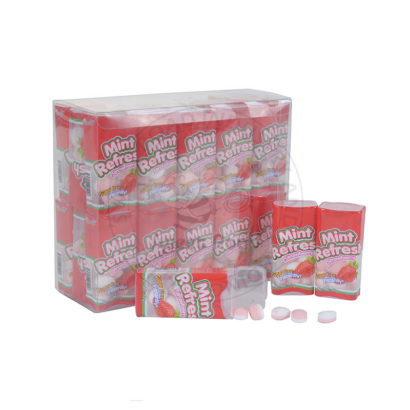 Manufacture Sweet Candy for Mint Refres Table Candy in Bottle
