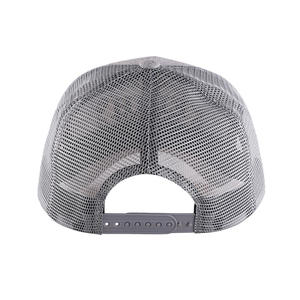 Custom Gray 3D Letter Embroidery Mesh Hat Trucker Cap