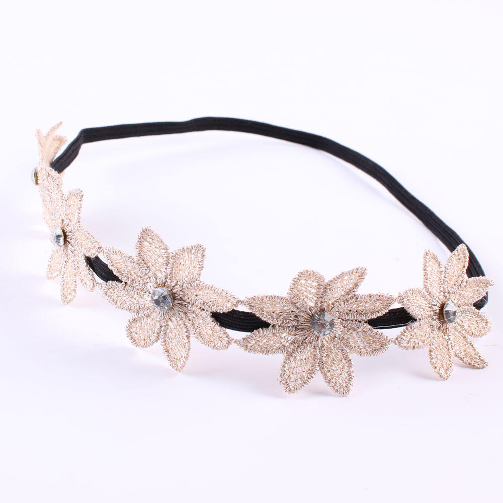 Wholesale best photography prop lace flower headband women girl lady hair band