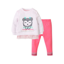 Factory Direct Sales Baby Clothes Clothing Sets Children cute print Girl Clothes Set