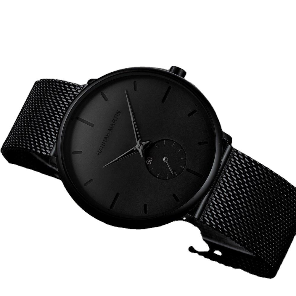 Pria Fashion Ultra Tipis Sederhana Tahan Air Quartz Dial Ganda Watch