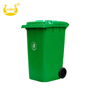 240L outdoor plastic 120l Large garbage bin dust bin trash can waste bin with wheels pedal and lid Dumpster dustbin recycl