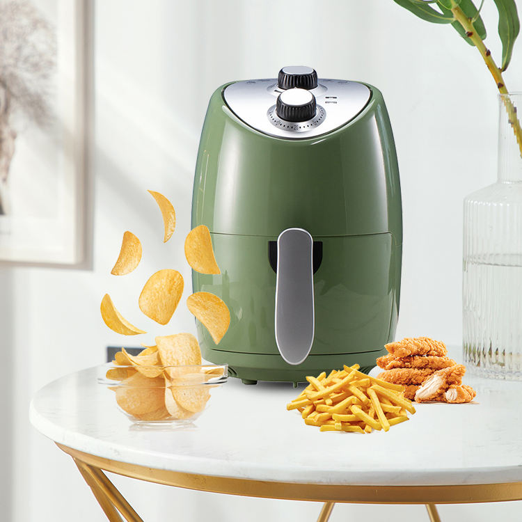 Stainless Steel Air Fryer 2.6 Liter With <span class=keywords><strong>Temp</strong></span>/Timer Settings Hot Sale Oilless Cooker Crisp Electric Air Fryer