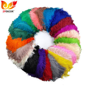ZPDECOR Wholesale Cheap Size 25-30 cm Dyed Ostrich Feathers for Hat Design