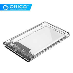 Top Selling ORICO Transparent Type C 2.5'' SATA SSD HDD Enclosure Tool Free Easy Detachable High Speed Transmission HDD Case