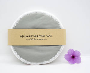 GOTS certificated organic bamboo nursing pads free sample reusable washable nursing pads absorbent flat rounds