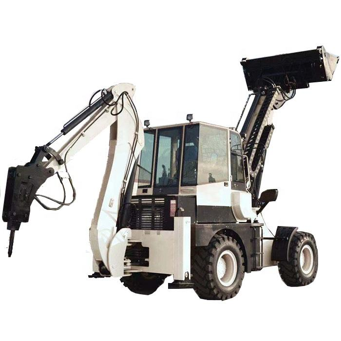 chinese hot sale big front end and backhoe loader digger with extra hydraulic line for front attachments wz40-28