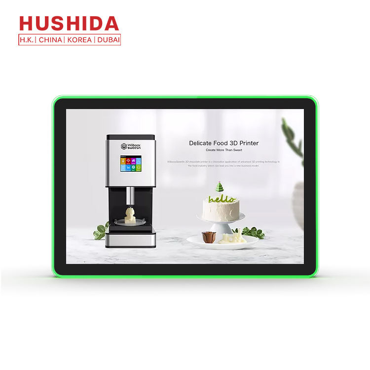 HUSHIDA portatile bluetooth rs232 <span class=keywords><strong>pos</strong></span> monitor touch screen PC