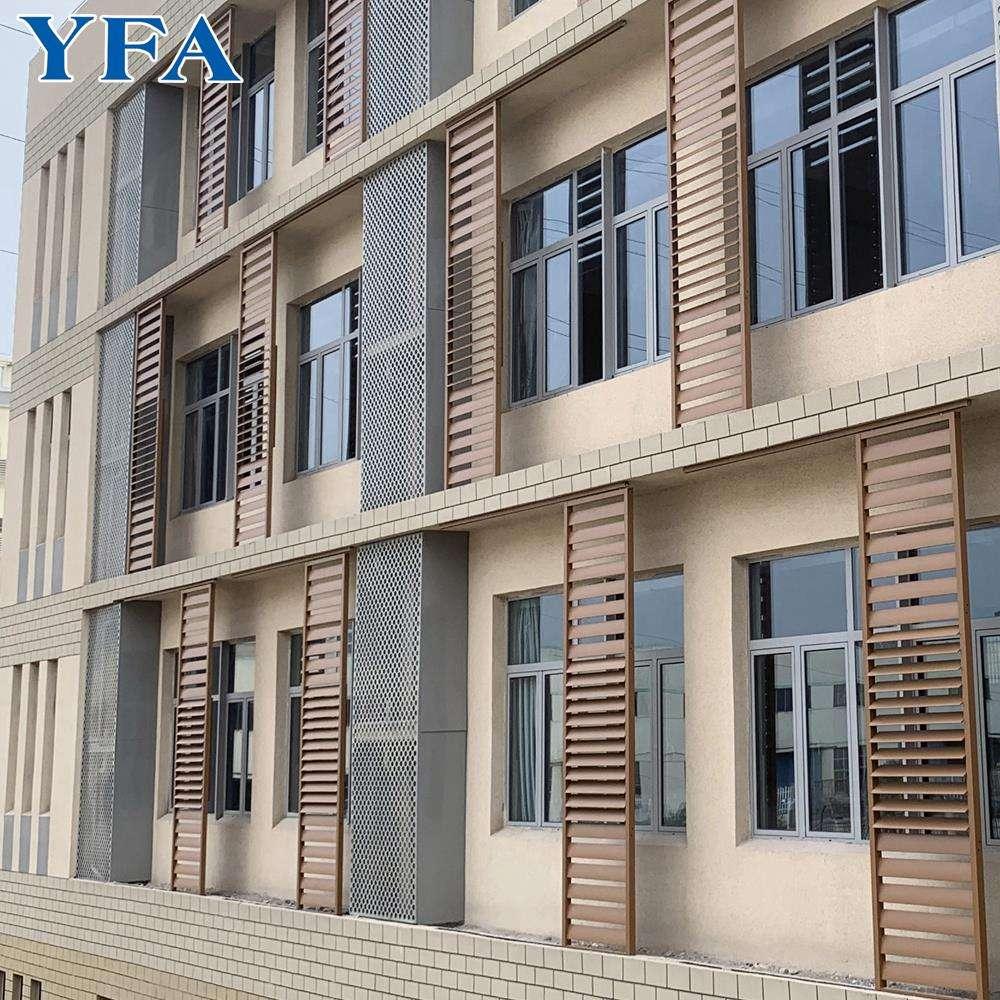 made in china light weight aluminium louver for window shutter / ventilation / wall facade