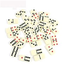 Professinal dominoes factory of ivory color double six domino wood box with black and red dot